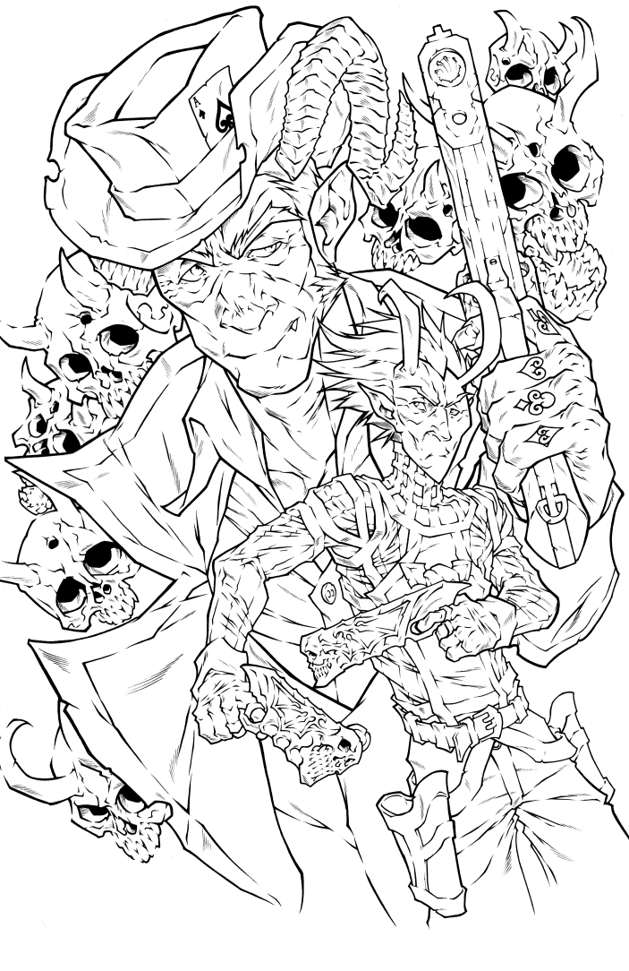 Gun Devil Issue 1 Inks by NoahW