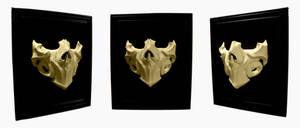 Bone half-mask