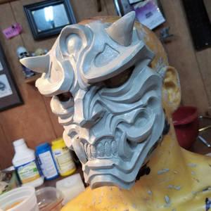 Hannya mask sculpt