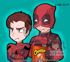 Spideypool with Cheetos