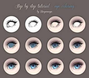 Step by step tutorial - eye coloring by MayeMaya