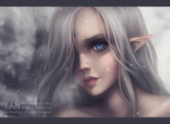 Yan the Ice Princess by MayeMaya