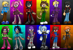 Jeremy, Aelita, Yumi, Ulrich, Odd, William, Sissi,