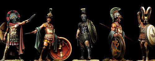 5 Hoplites by PHOENIX8341