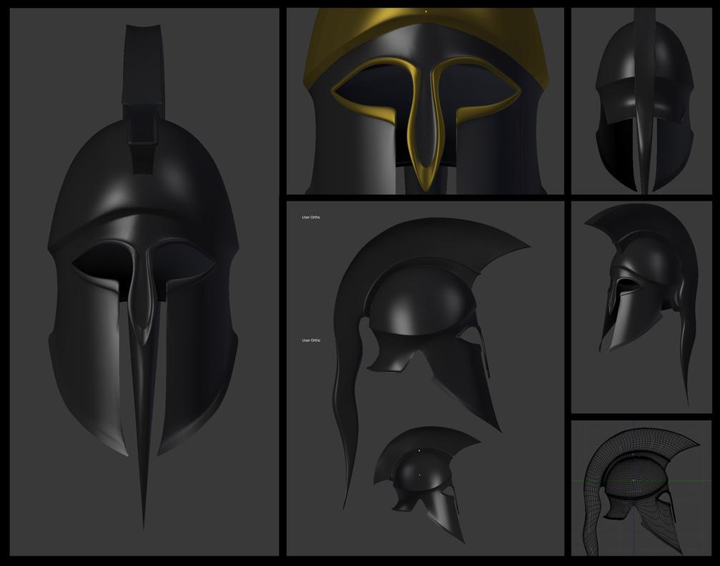 Greek hoplite Corinthian helmet by PHOENIX8341