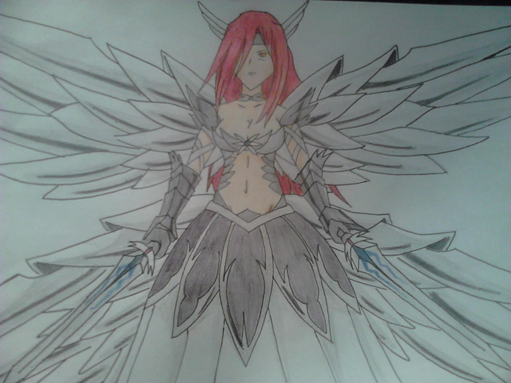 Erza Scarlet-Heaven's Wheel Armor by eranthras on DeviantArt