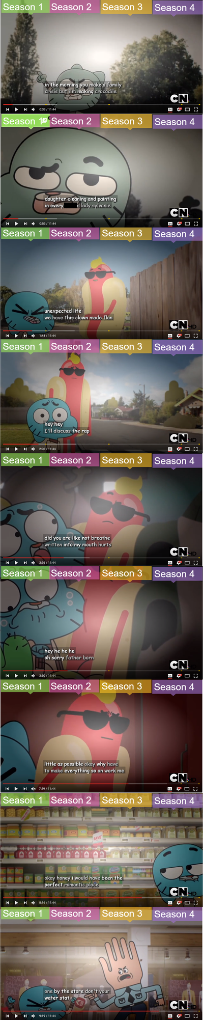 Subtitles Fail: Gumball's awkwardness by BlueAngelPower2003