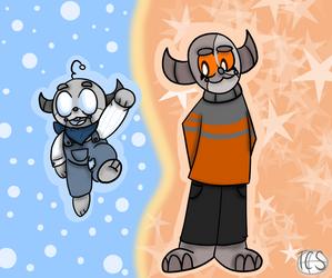 :Art Fight: Robot siblings!