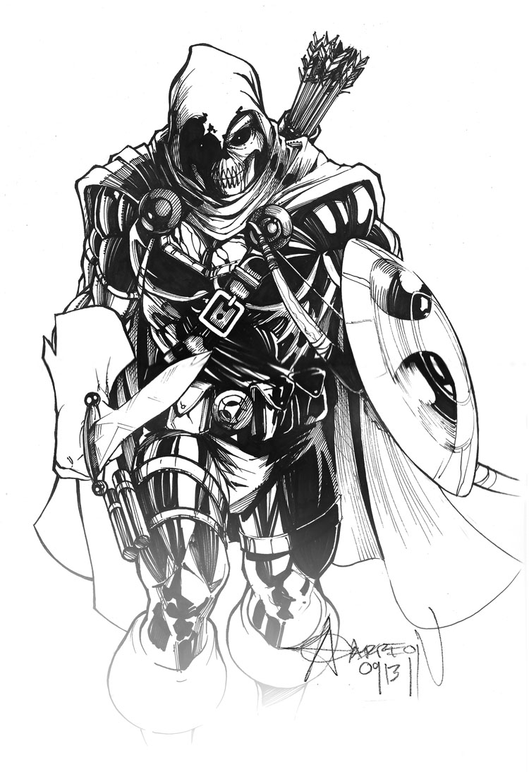 Taskmaster Inked By Artstudio On Deviantart