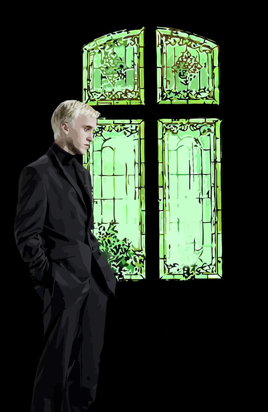 Draco Malfoy at Malfoy Manor by skullpel