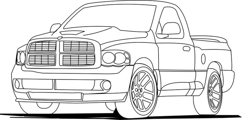 Dodge Cummins Coloring Pages Dodge Ram SRT10 by sto...