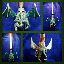 Cthulhu candle holder  by MissDwidwi