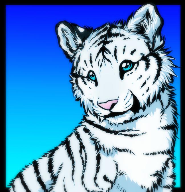 Tiger cub by Yechii