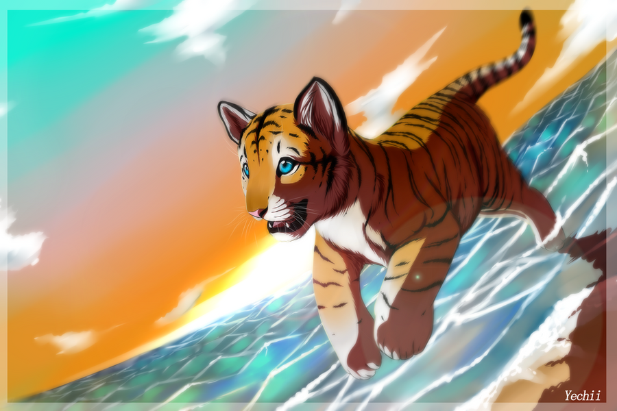 Tiger Cub+Speedpaint by Yechii