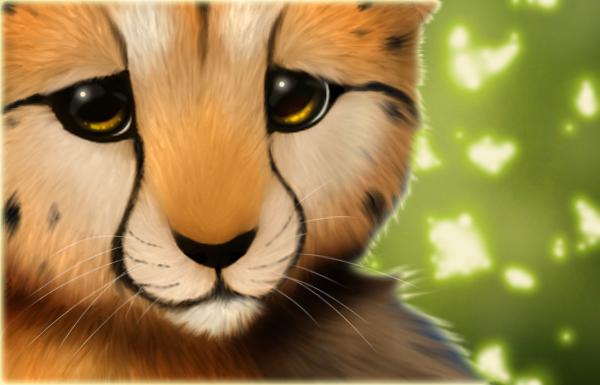 Cheetah cub+Speedpaint by Yechii