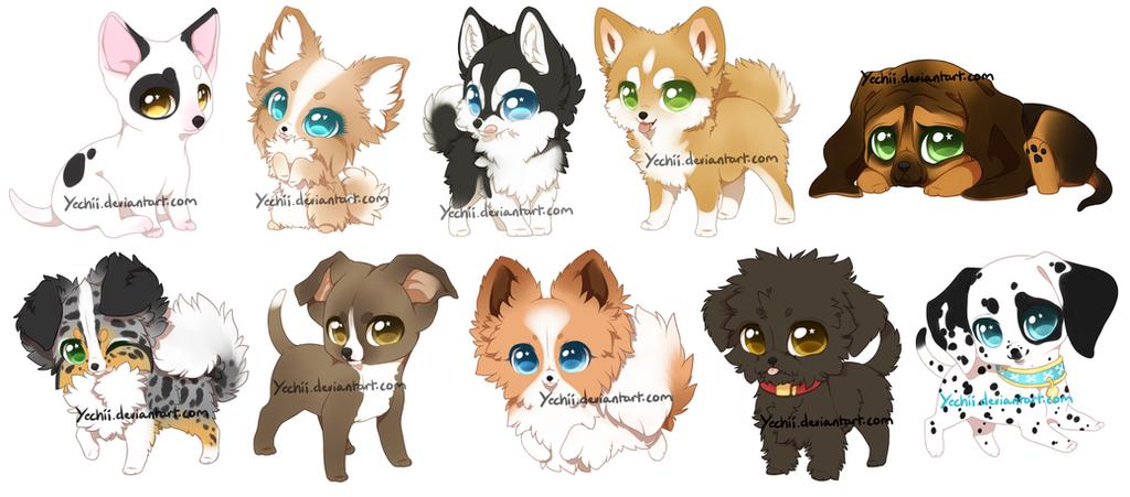 Chibi Dogs by Yechii