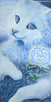 Acrylic painting - Rosey blue