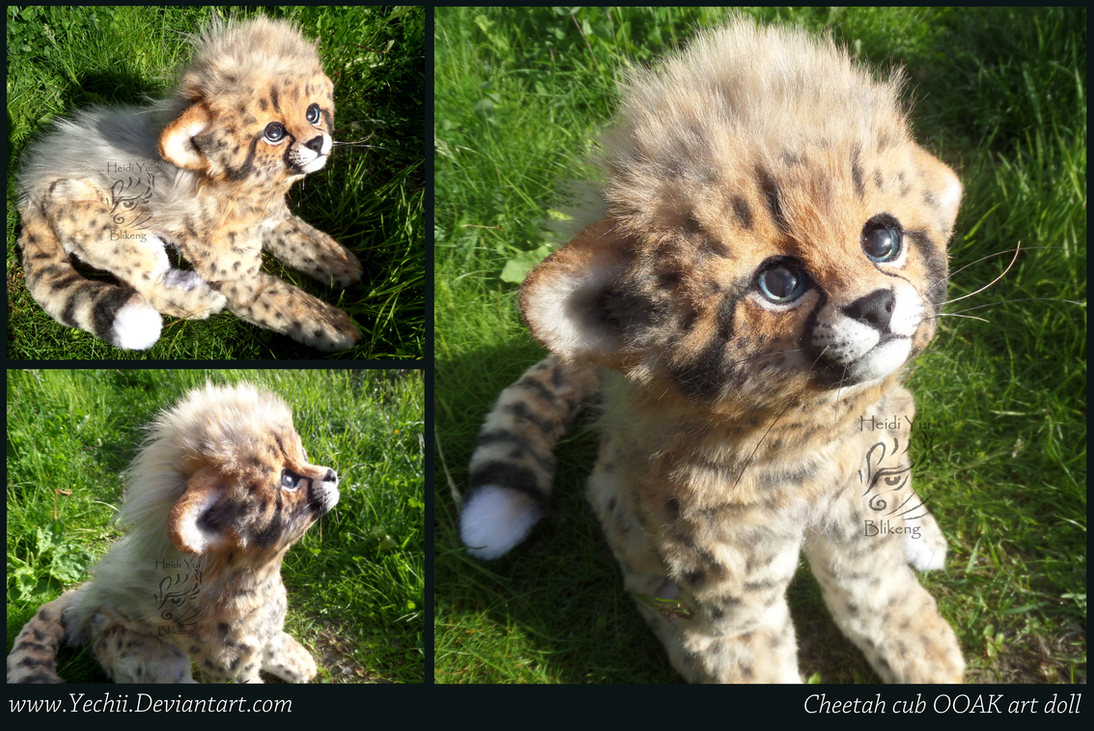 FOR SALE 353 USD until the 15th OOAK Cheetah doll by Yechii on