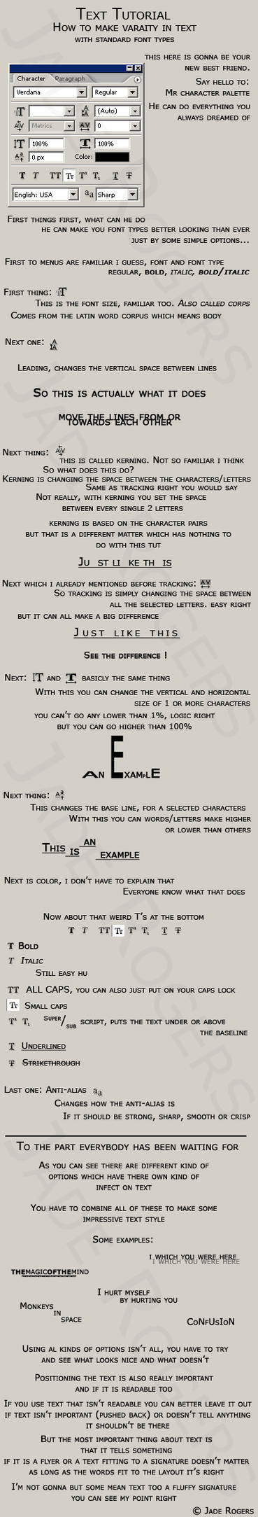Text tutorial