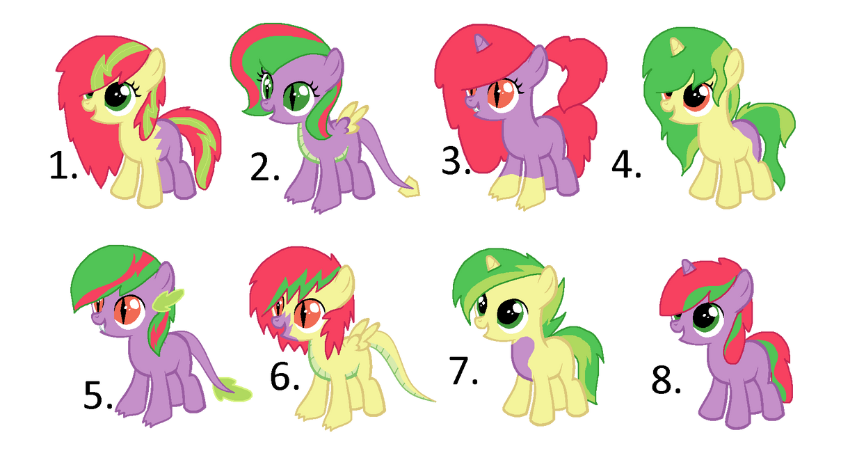 adopt a pony164 spike x apple bloom by crystalmoon101 on