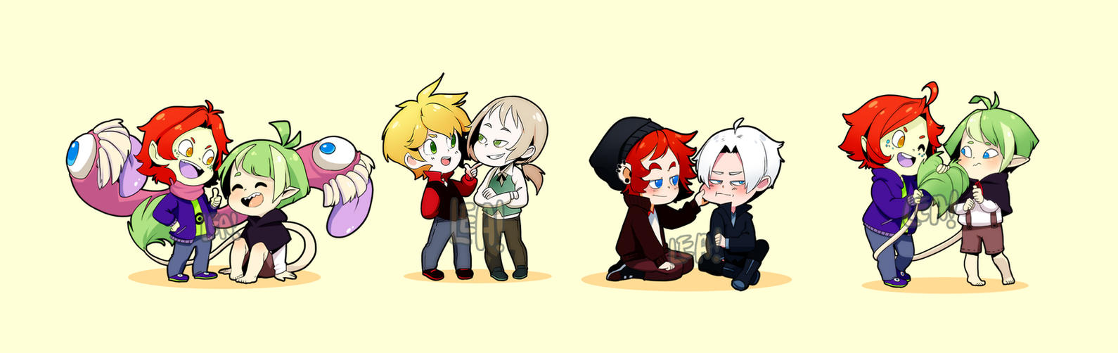 Some lovely love in chibi form by Leaglem on DeviantArt