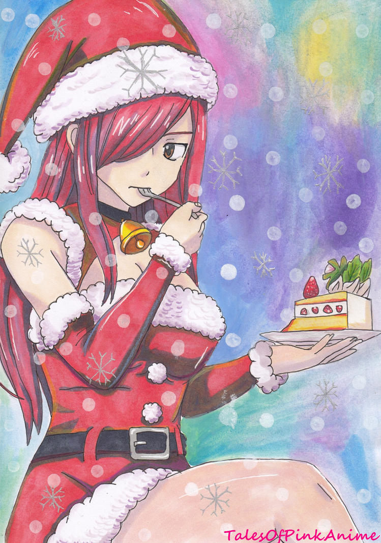 Speed Drawing: Fairy Tail Erza Scarlet Christmas by ...