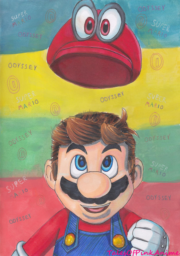 Speed drawing nintendo switch super mario odyssey by for Super mario odyssey paintings