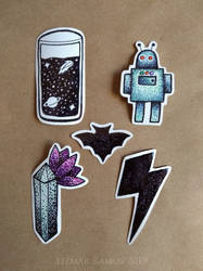 Some handmade stickers
