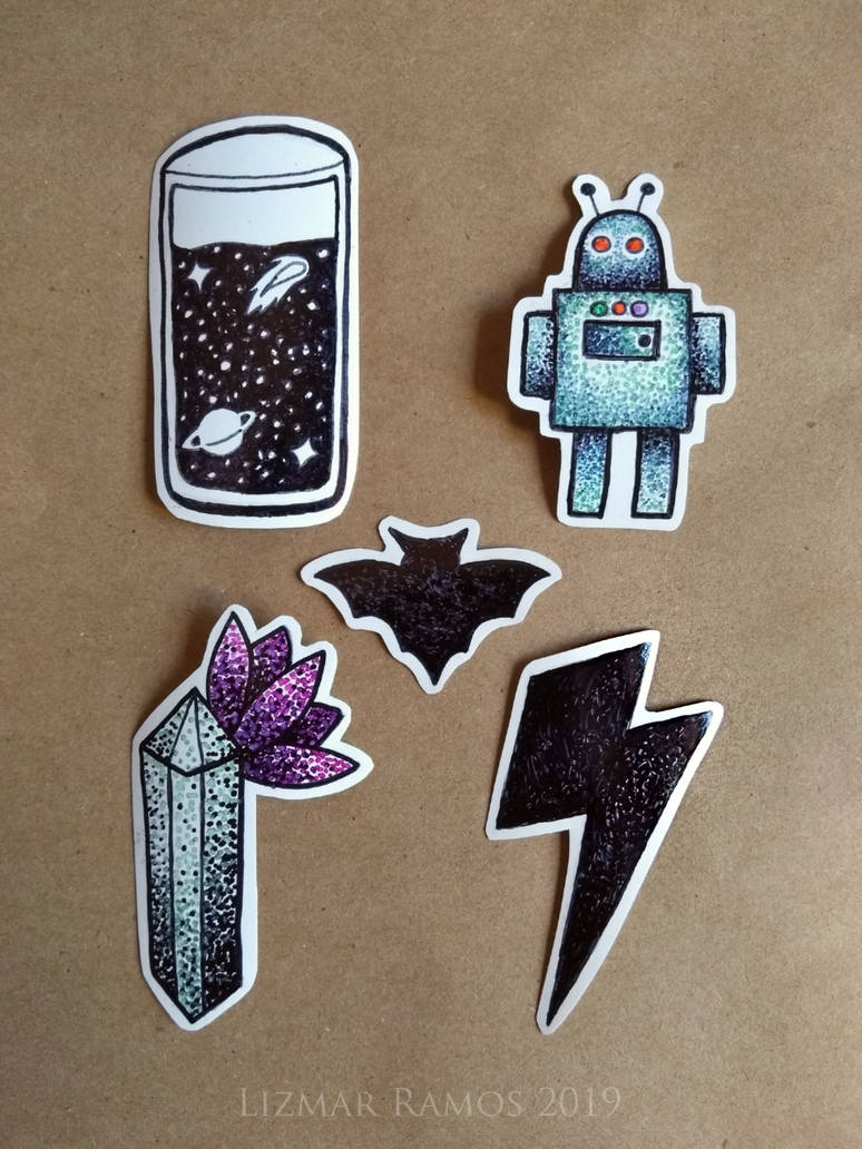 Some handmade stickers by NerwenNenharma