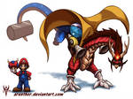 SuperSmashDragons - Mario by Arenthor