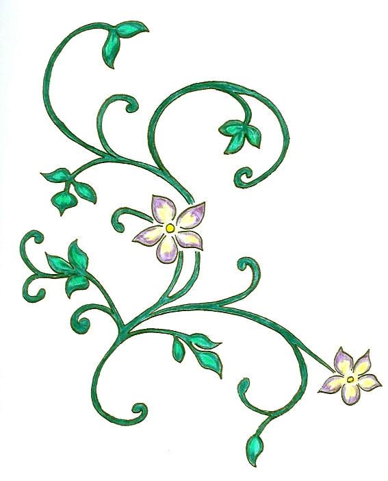 kitchen flowers - flower tattoo