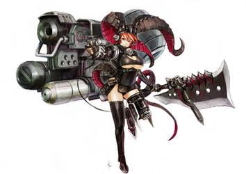 Armament Armor Girl by kometani