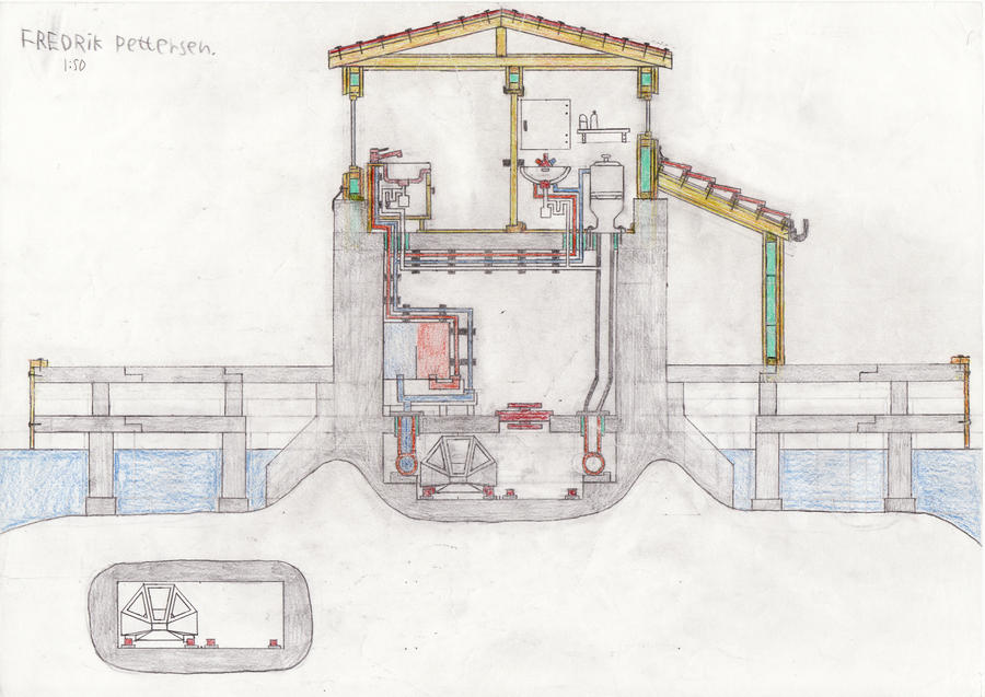Cross section house 1 by MasterMeiniek