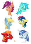Pony heads (speedpaint practice)