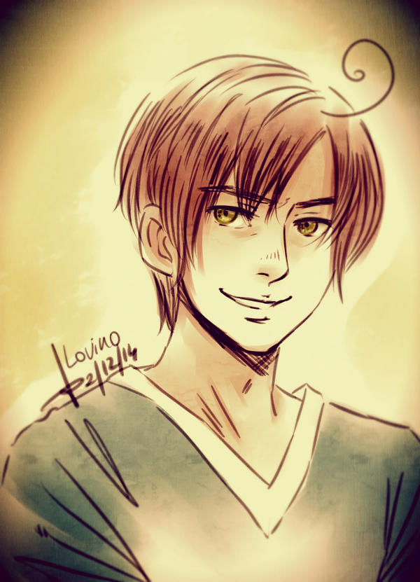 Sketch: Smiling Lovi Vargas by AkariMarco