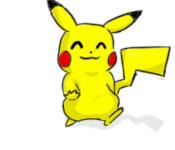Pikachu walking anime 2 by ham77770011
