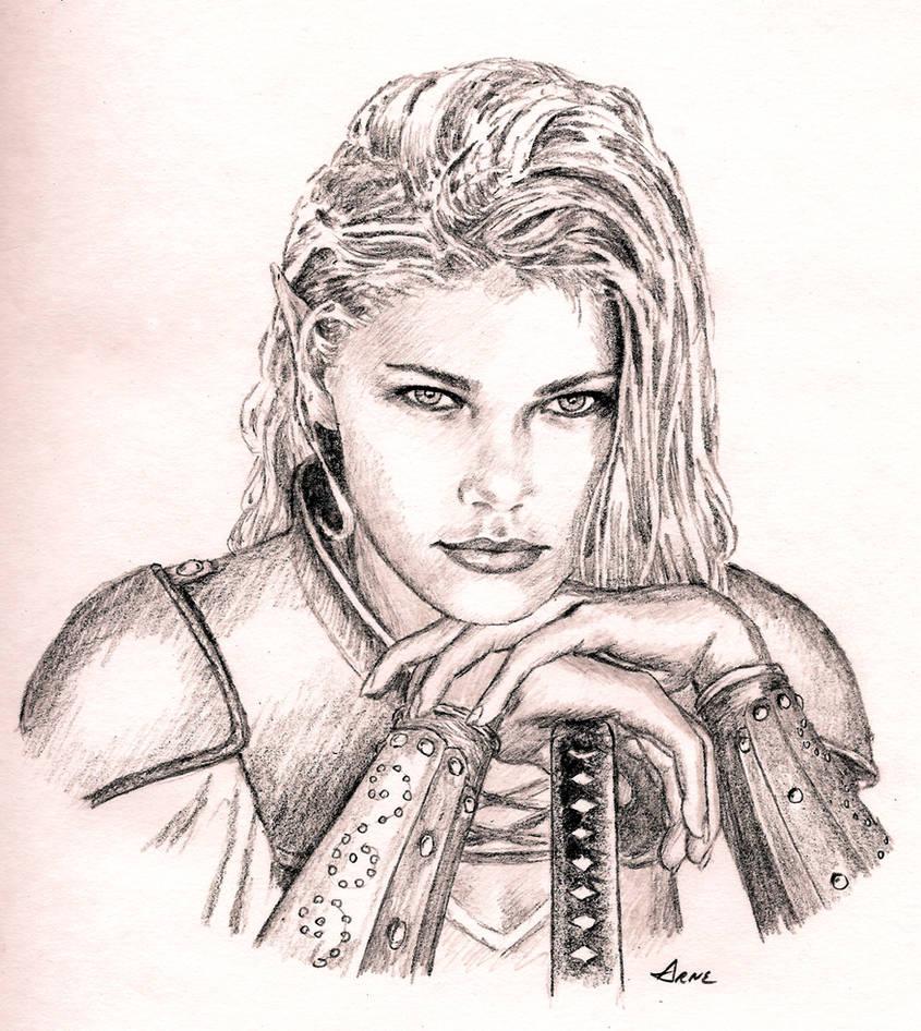 Pencil sketch 2 by bad dragon