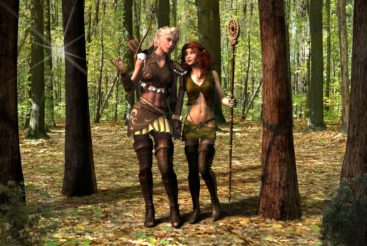 Elf in forest porn erotic images