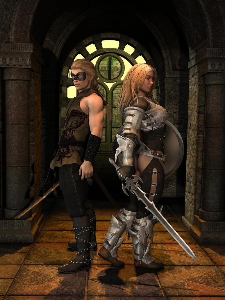 Raelen and Tala ver. 3 by Bad-Dragon