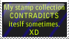 Contradiction Stamp 8D by Miyazaki-A2