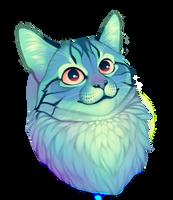 Aqua Cat by Sylvanimus