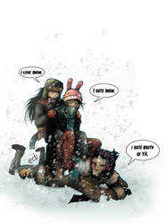 snow fight by Nolife-Edi