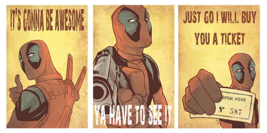 Deadpool movie poster by Nolife-Edi