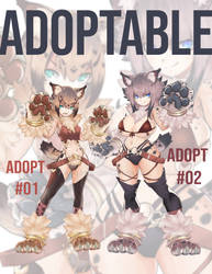 [CLOSED]  adoptable -  Yamaneko and  Rinkusu