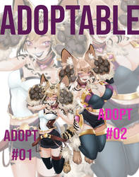[CLOSED]  adoptable - Kusaneko Shimai
