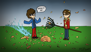 Thomas and Zachary by MSPToons