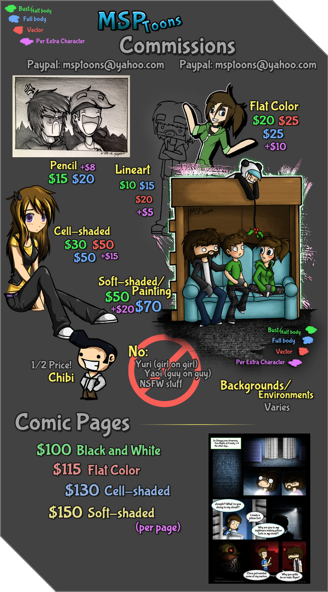 MSPToons Commission Info [OPEN] by MSPToons