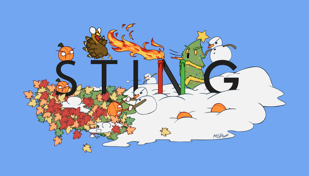 The Sting Logo Doodle 1 (Winter 2015) by MSPToons