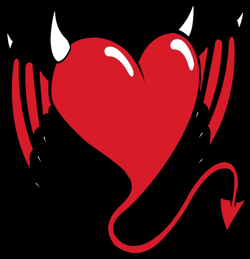 devil heart by aktn on deviantart