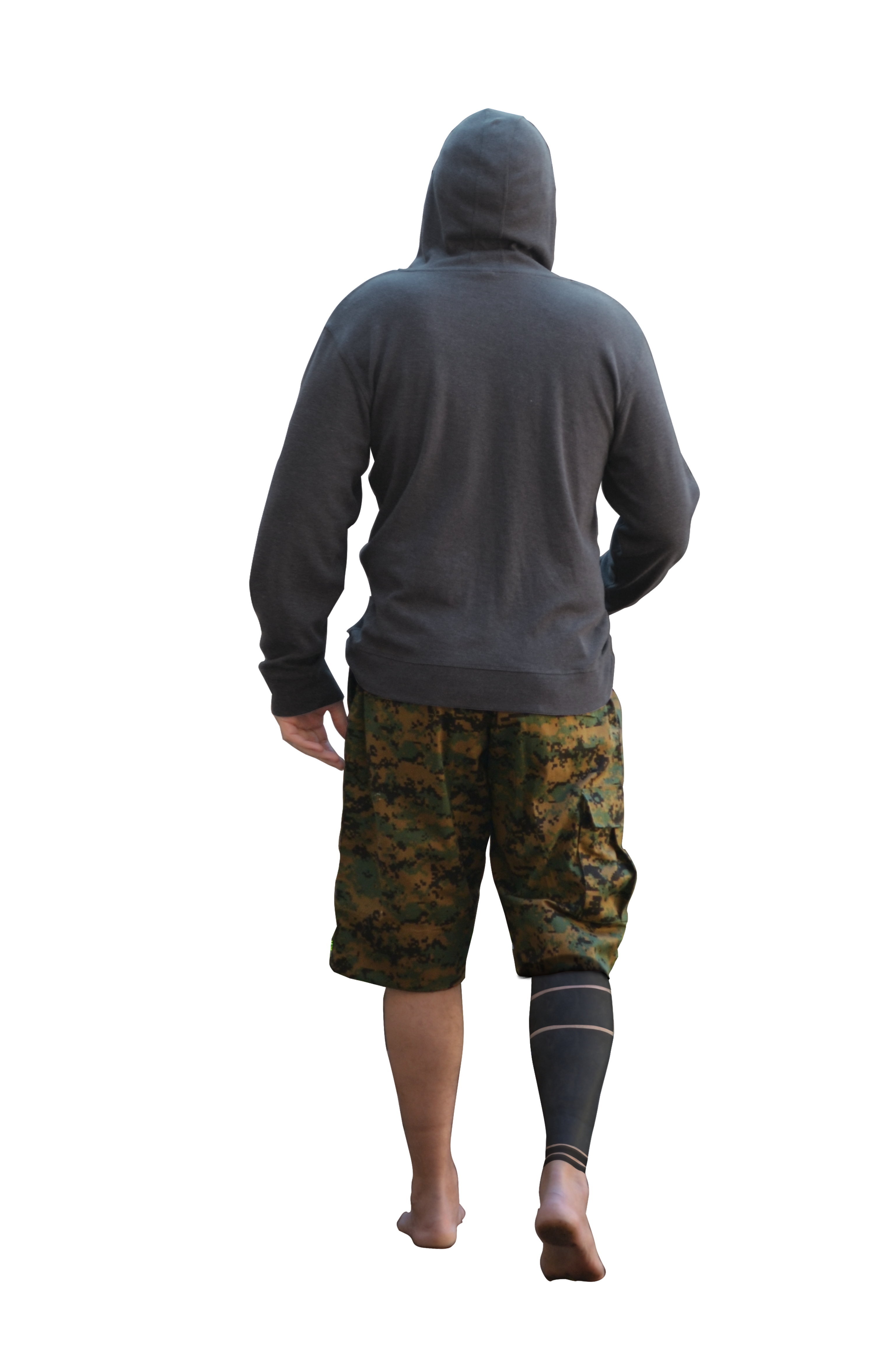 full body hoodie back of guy in hoodie walking png by donkeysneakers on 3364